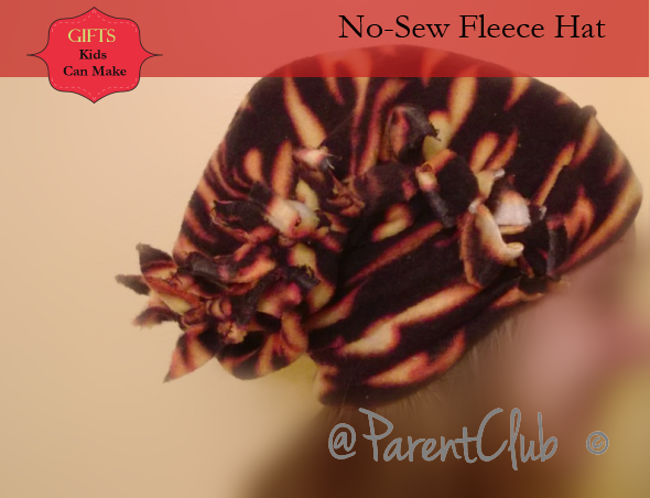 Gifts Kids Can Make - No-Sew Fleece Hat