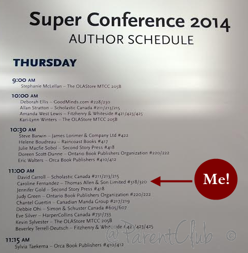 OLA Super Conference Author Schedule Caroline Fernandez