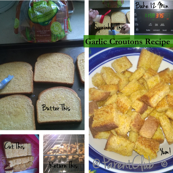 Homemade Garlic Croutons Recipe