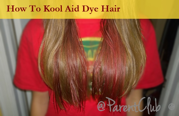 how to put kool aid in hair