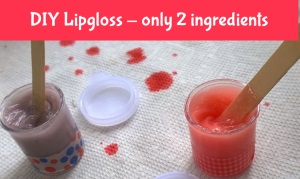 DIY lip gloss only two ingredients thumbnail