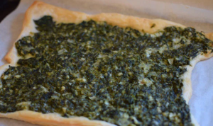 SPINACH, ONION, AND FETA IN PUFF PASTRY thumbnail