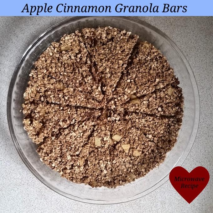 Apple cinnamon granola bars -