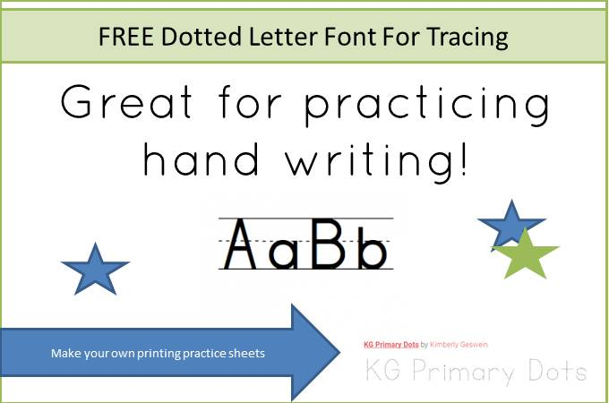 free dotted letter font for tracing. Black Bedroom Furniture Sets. Home Design Ideas